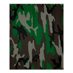 Army Green Camouflage Shower Curtain 60  X 72  (medium)  by BangZart