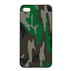 Army Green Camouflage Apple Iphone 4/4s Seamless Case (black) by BangZart