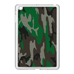 Army Green Camouflage Apple Ipad Mini Case (white) by BangZart