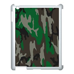 Army Green Camouflage Apple Ipad 3/4 Case (white) by BangZart