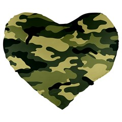 Camouflage Camo Pattern Large 19  Premium Heart Shape Cushions by BangZart