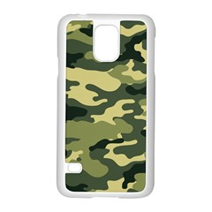 Camouflage Camo Pattern Samsung Galaxy S5 Case (white) by BangZart