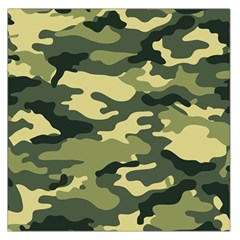 Camouflage Camo Pattern Large Satin Scarf (square) by BangZart
