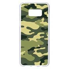 Camouflage Camo Pattern Samsung Galaxy S8 Plus White Seamless Case