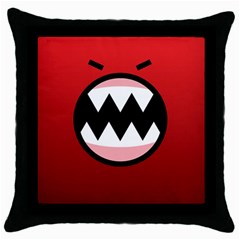Funny Angry Throw Pillow Case (black) by BangZart