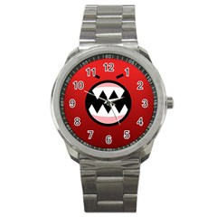 Funny Angry Sport Metal Watch by BangZart
