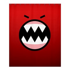Funny Angry Shower Curtain 60  X 72  (medium)  by BangZart