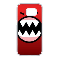 Funny Angry Samsung Galaxy S7 Edge White Seamless Case