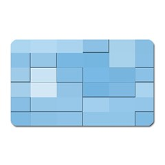 Blue Squares Iphone 5 Wallpaper Magnet (rectangular) by BangZart