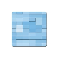 Blue Squares Iphone 5 Wallpaper Square Magnet by BangZart