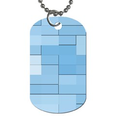 Blue Squares Iphone 5 Wallpaper Dog Tag (two Sides) by BangZart