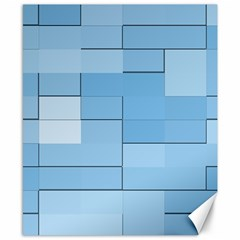 Blue Squares Iphone 5 Wallpaper Canvas 8  X 10  by BangZart