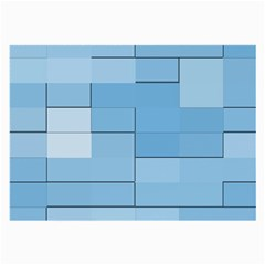 Blue Squares Iphone 5 Wallpaper Large Glasses Cloth (2 Side)