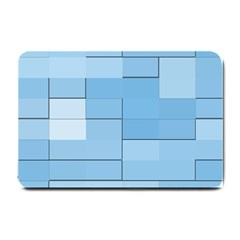 Blue Squares Iphone 5 Wallpaper Small Doormat  by BangZart