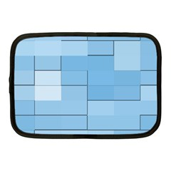 Blue Squares Iphone 5 Wallpaper Netbook Case (medium)  by BangZart