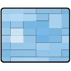 Blue Squares Iphone 5 Wallpaper Fleece Blanket (medium)  by BangZart