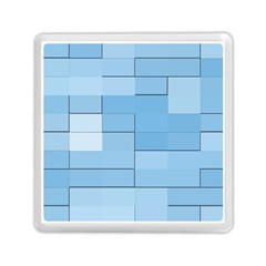 Blue Squares Iphone 5 Wallpaper Memory Card Reader (square)  by BangZart