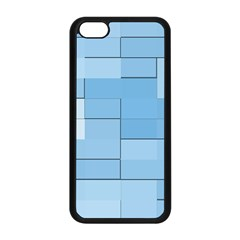 Blue Squares Iphone 5 Wallpaper Apple Iphone 5c Seamless Case (black)