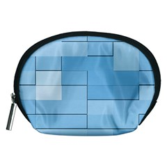Blue Squares Iphone 5 Wallpaper Accessory Pouches (medium)  by BangZart
