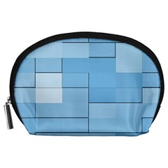 Blue Squares Iphone 5 Wallpaper Accessory Pouches (large)  by BangZart