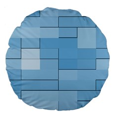 Blue Squares Iphone 5 Wallpaper Large 18  Premium Flano Round Cushions by BangZart