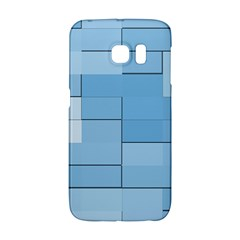 Blue Squares Iphone 5 Wallpaper Galaxy S6 Edge by BangZart