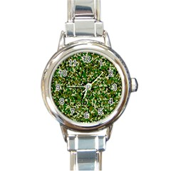Camo Pattern Round Italian Charm Watch by BangZart