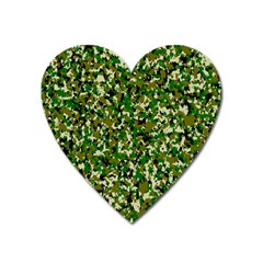 Camo Pattern Heart Magnet by BangZart