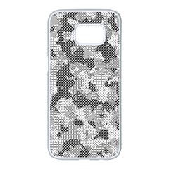 Camouflage Patterns Samsung Galaxy S7 Edge White Seamless Case