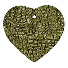 Aligator Skin Heart Ornament (two Sides) by BangZart