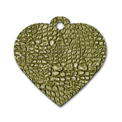 Aligator Skin Dog Tag Heart (one Side) by BangZart