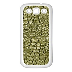 Aligator Skin Samsung Galaxy S3 Back Case (white) by BangZart