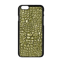 Aligator Skin Apple Iphone 6/6s Black Enamel Case by BangZart