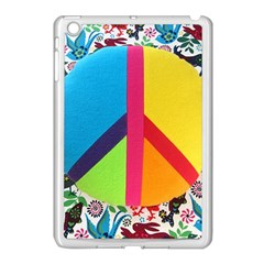 Peace Sign Animals Pattern Apple Ipad Mini Case (white) by BangZart