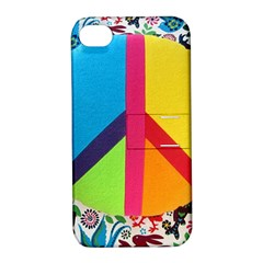 Peace Sign Animals Pattern Apple Iphone 4/4s Hardshell Case With Stand by BangZart