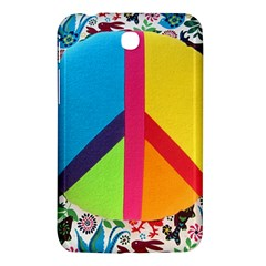 Peace Sign Animals Pattern Samsung Galaxy Tab 3 (7 ) P3200 Hardshell Case  by BangZart
