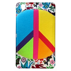 Peace Sign Animals Pattern Samsung Galaxy Tab Pro 8 4 Hardshell Case by BangZart