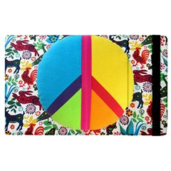 Peace Sign Animals Pattern Apple Ipad Pro 12 9   Flip Case by BangZart