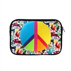 Peace Sign Animals Pattern Apple Macbook Pro 15  Zipper Case by BangZart