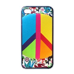 Peace Sign Animals Pattern Apple Iphone 4 Case (black) by BangZart