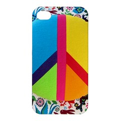 Peace Sign Animals Pattern Apple Iphone 4/4s Premium Hardshell Case by BangZart