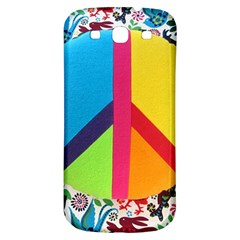 Peace Sign Animals Pattern Samsung Galaxy S3 S Iii Classic Hardshell Back Case by BangZart