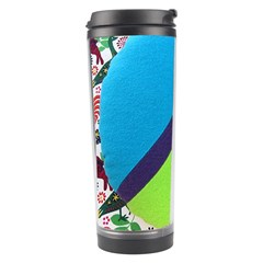 Peace Sign Animals Pattern Travel Tumbler