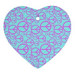 Peace Sign Backgrounds Ornament (heart) by BangZart