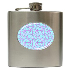 Peace Sign Backgrounds Hip Flask (6 Oz) by BangZart