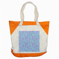 Peace Sign Backgrounds Accent Tote Bag by BangZart