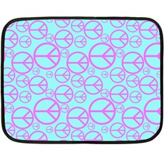 Peace Sign Backgrounds Fleece Blanket (mini) by BangZart
