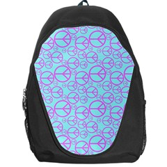 Peace Sign Backgrounds Backpack Bag by BangZart