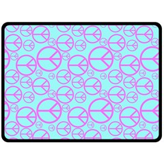 Peace Sign Backgrounds Double Sided Fleece Blanket (large)  by BangZart
