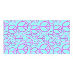 Peace Sign Backgrounds Satin Shawl by BangZart